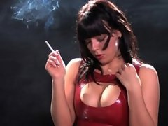 Sexy Charlotte Smoking Latex