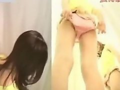 Japanese girl naked at the fitting room