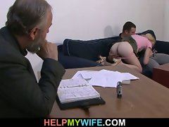 Older husband pays him to fuck his wife