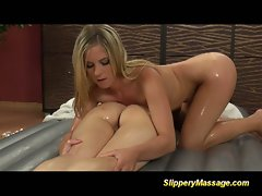 Nuru massage with some girl on girl action