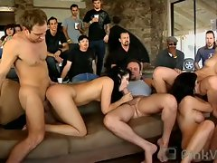 Wild sex party with people fucking and people watching