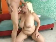 Chubby blonde anal