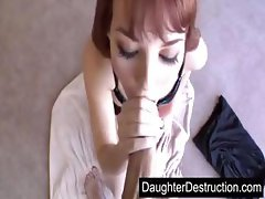 Daughter sucks daddys cock good