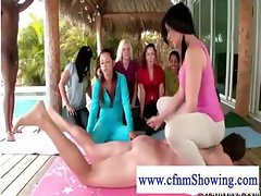 Yoga fun with naked men on cnfm show