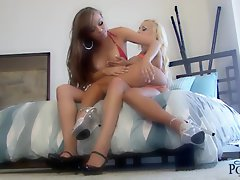 Jenny Poussin gets all up in her girlfriends pussy for some lesbo time