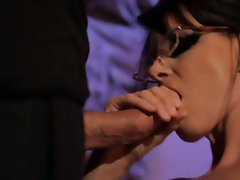 India Summers takes it nice and slow on a big cock in her eager mouth