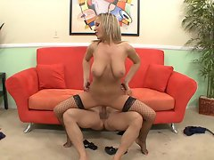 Jessica Moore bounces her wet pussy on this hard prick