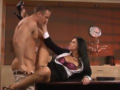 Naughty babe India Summers gets her soaking wet snatch slammed
