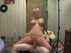 Carly Parker rides a coeds cock in the dorm
