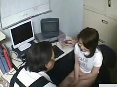 Office ladies store owner blowjob