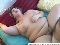 Beautiful BBWs first fuck on film