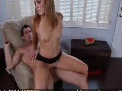 Skinny slutty girl fucks her friends brother so he will help her