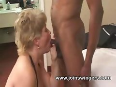 Aged swinger lovemaking group