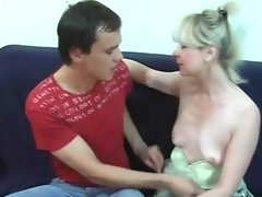 Granny has fun with young man