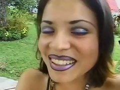 Latina MILF gets fucked in the backyard