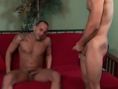Str8 gringo gets talked into playing with a hot Puerto Rican papi.