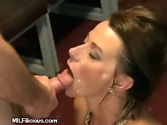 MILF Gets Face Sprayed With Cum