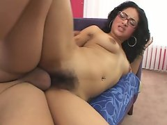 Lovely Andrea Kelly having her pussy destroyed by a huge cock