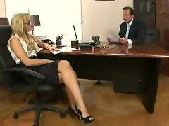 Sexy secretary Aleksa Diamond gets the bosses boner