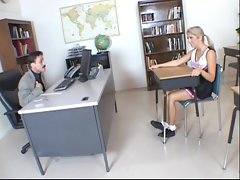 Stunning coed Jaelyn Fox fucks her tutor