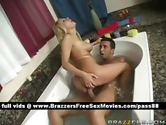 Amazing naked blonde wife in the bathtub