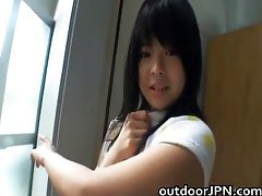 Anri Nonaka Asian hot babe in outdoor