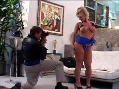 Wild busty blonde milf gets super nasty for photographer's huge cock