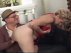 Granny loves fucking two big hard cocks