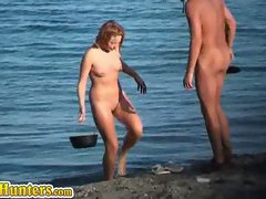 Sizzling nudists beach caught on hidden camera