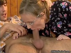Horny housewife goes crazy sucking