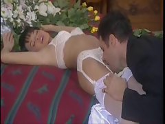 Erotic foreplay with his gorgeous new bride