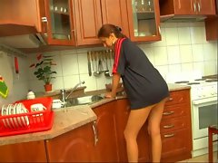 daughter fucked in kitchen