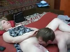 Teen guy foreplay with a sexy milf