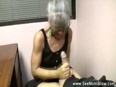 Granny loves to suck cock for this lucky guy