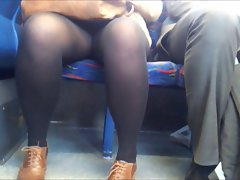 Pleasant evening upskirt