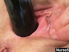 Natural big tits bizarre masturbation in hospital
