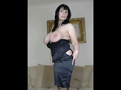 Mature in black stockings
