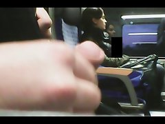 jerking next to turkish girl on train