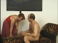 Granny in Red Cami Fucked