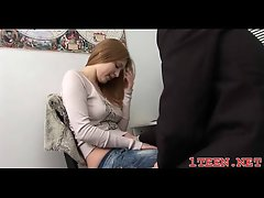 Tempting barely legal teen getting gaped brutal