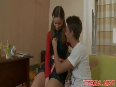 Tempting barely legal teen getting gaped rough