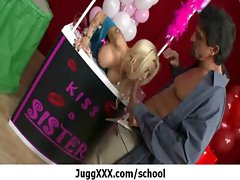 Lewd Pornstar With Extremely large tits In Mummy Porn - Large melons At School 16