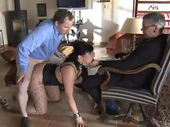 Slave is banged while master watch