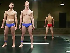 NakedKombat - Nikko Alexander vs Jake Austin and Cameron Adams