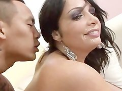 AMWF Filthy bitch Vannah Sterling interracial with Asian chap
