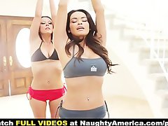 Daisy Marie is a big tit lesbo yoga instructor who screws her student Laly