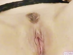 Amateur redhead Maxima rubbing clit and gets cum