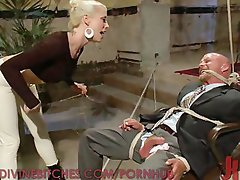Dominatrix Punishes a Worthless Business Man